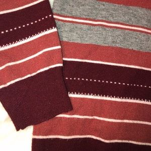 Promesa Striped Maroon Sweater Medium / Large